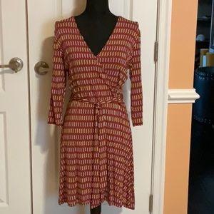 Dariah Faux Wrap Printed Dress